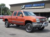 2005 Sunburst Orange Metallic Chevrolet Silverado 1500 Z71 Extended Cab 4x4 #68523548