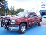 2004 Sport Red Metallic Chevrolet Silverado 1500 Z71 Extended Cab 4x4 #68522953