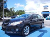 2012 Black Ford Focus SEL Sedan #68522949