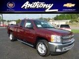 2013 Deep Ruby Metallic Chevrolet Silverado 1500 LT Extended Cab 4x4 #68523531