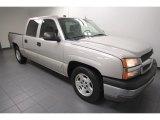 2005 Sandstone Metallic Chevrolet Silverado 1500 LS Crew Cab #68523244
