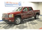 2013 Deep Ruby Metallic Chevrolet Silverado 1500 LTZ Crew Cab 4x4 #68523468