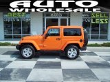 2012 Crush Orange Jeep Wrangler Sahara 4x4 #68523211