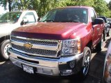 2013 Deep Ruby Metallic Chevrolet Silverado 1500 LT Regular Cab #68522794