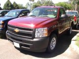 2013 Deep Ruby Metallic Chevrolet Silverado 1500 Work Truck Regular Cab #68522789