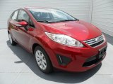 2013 Ruby Red Ford Fiesta SE Sedan #68523074