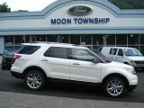 2013 White Platinum Tri-Coat Ford Explorer XLT 4WD #68523036