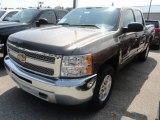 2013 Mocha Steel Metallic Chevrolet Silverado 1500 LT Crew Cab 4x4 #68523322