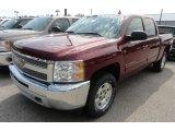 2013 Deep Ruby Metallic Chevrolet Silverado 1500 LT Crew Cab 4x4 #68523320