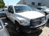 2008 Bright White Dodge Ram 1500 ST Quad Cab #68579838