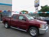 2013 Deep Ruby Metallic Chevrolet Silverado 1500 LT Crew Cab 4x4 #68579261