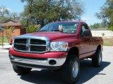 2007 Inferno Red Crystal Pearl Dodge Ram 1500 SLT Regular Cab #6834763