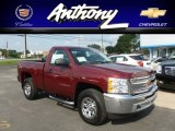 2013 Deep Ruby Metallic Chevrolet Silverado 1500 Work Truck Regular Cab 4x4 #68579805