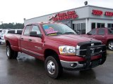 2007 Inferno Red Crystal Pearl Dodge Ram 3500 SLT Quad Cab 4x4 Dually #6837385