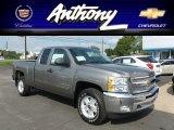 2013 Graystone Metallic Chevrolet Silverado 1500 LT Extended Cab 4x4 #68579803