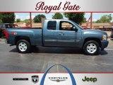 2009 Blue Granite Metallic Chevrolet Silverado 1500 LT Extended Cab 4x4 #68579222