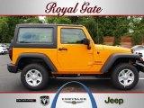 2012 Dozer Yellow Jeep Wrangler Sport 4x4 #68579211