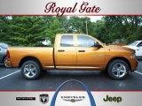 2012 Tequila Sunrise Pearl Dodge Ram 1500 Express Quad Cab 4x4 #68579205