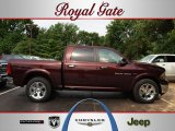 2012 Deep Molten Red Pearl Dodge Ram 1500 Laramie Crew Cab 4x4 #68579200