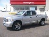 2008 Bright Silver Metallic Dodge Ram 1500 Laramie Quad Cab 4x4 #6832703