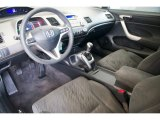 2007 Honda Civic EX Coupe Gray Interior