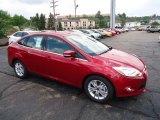 2012 Red Candy Metallic Ford Focus SEL Sedan #68579331