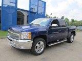 2013 Blue Topaz Metallic Chevrolet Silverado 1500 LT Crew Cab 4x4 #68579307