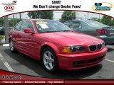 2003 Electric Red BMW 3 Series 325i Coupe #68630946