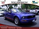2005 Sonic Blue Metallic Ford Mustang V6 Premium Convertible #68630939