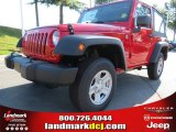 2012 Flame Red Jeep Wrangler Sport 4x4 #68664649