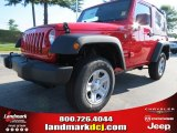 2012 Flame Red Jeep Wrangler Sport 4x4 #68664648