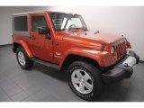 2009 Jeep Wrangler Sunburst Orange Pearl Coat