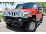 2007 Hummer H2 Victory Red