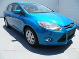 2012 Blue Candy Metallic Ford Focus SE Sedan #68664751