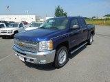 2013 Blue Topaz Metallic Chevrolet Silverado 1500 LT Crew Cab 4x4 #68664930