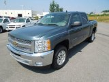 2012 Blue Granite Metallic Chevrolet Silverado 1500 LT Crew Cab #68664927