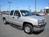 2004 Silver Birch Metallic Chevrolet Silverado 1500 LS Extended Cab 4x4 #68707745