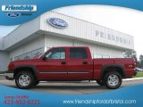 2004 Victory Red Chevrolet Silverado 1500 Z71 Crew Cab 4x4 #68707375