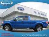 2012 Blue Flame Metallic Ford F150 XLT SuperCab 4x4 #68707373
