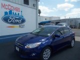2012 Sonic Blue Metallic Ford Focus SE 5-Door #68707356