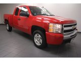 2010 Victory Red Chevrolet Silverado 1500 LT Extended Cab #68707691
