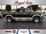 2009 Brilliant Black Crystal Pearl Dodge Ram 1500 Laramie Crew Cab 4x4 #68707302