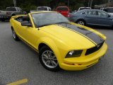 2005 Screaming Yellow Ford Mustang V6 Premium Convertible #68707635