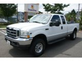 2002 Oxford White Ford F250 Super Duty XLT SuperCab 4x4 #68707619