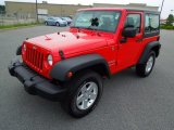 2011 Flame Red Jeep Wrangler Sport S 4x4 #68707909