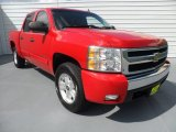 2008 Victory Red Chevrolet Silverado 1500 LT Crew Cab 4x4 #68707604