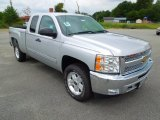 2012 Silver Ice Metallic Chevrolet Silverado 1500 LT Extended Cab 4x4 #68707874