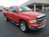 2005 Flame Red Dodge Ram 1500 SLT Quad Cab #68707823