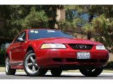 2000 Laser Red Metallic Ford Mustang V6 Coupe #68772509