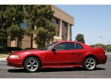 Laser Red Metallic Ford Mustang in 2000